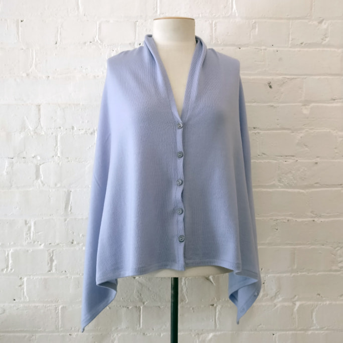 Button-up merino poncho.