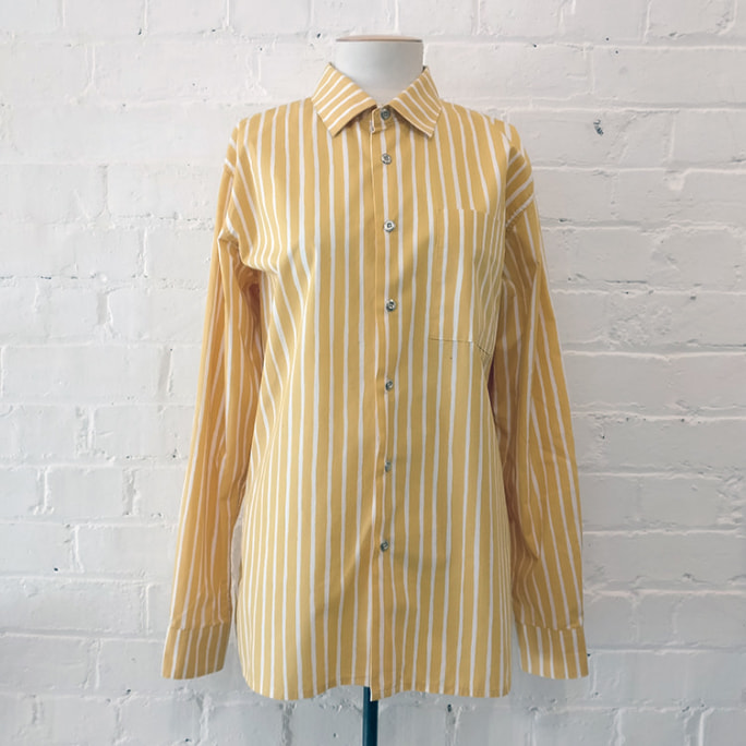 Oversize striped cotton shirt.
