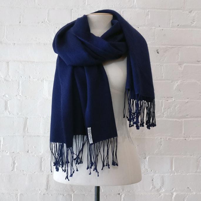 Cashmere & silk shawl, looks unworn!