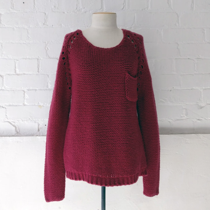 Chunky loose weave wool mix knit top. Original price tags still on!