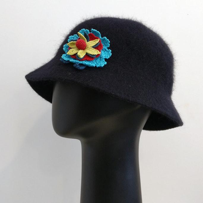 Angora wool hat.