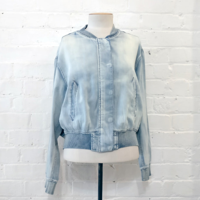 Chambray bomber. Original price tags still on!