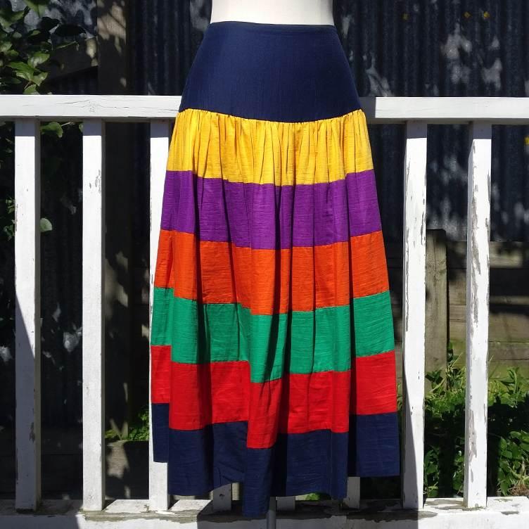 100% cotton tiered skirt.