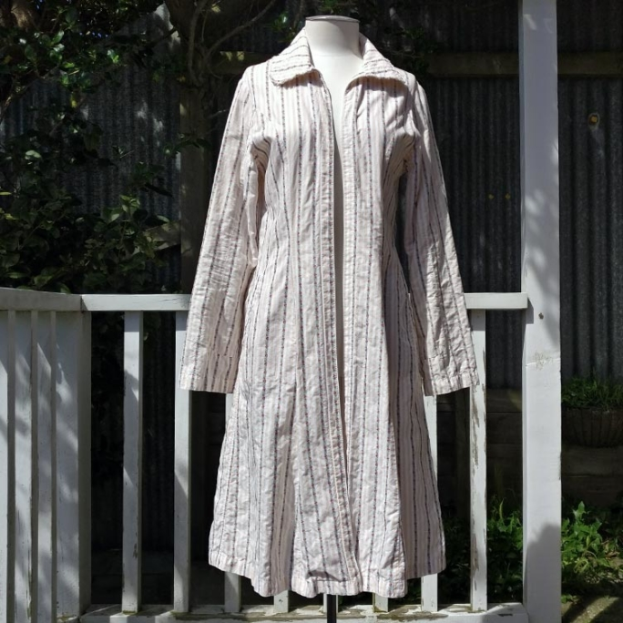 Soul Treasures cotton coat with pockets, unlined.